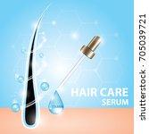 hair care serum vector  | Shutterstock .eps vector #705039721