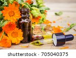marigold extract in a small... | Shutterstock . vector #705040375