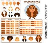 woman face constructor skin ... | Shutterstock .eps vector #705040549