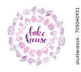 bakehouse lettering logo ... | Shutterstock .eps vector #705040951
