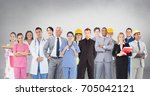 digital composite of group of... | Shutterstock . vector #705042121