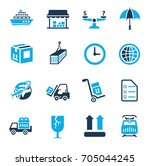 shipping icons | Shutterstock .eps vector #705044245