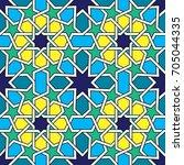 moroccan tiles pattern  moorish ... | Shutterstock .eps vector #705044335