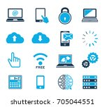 computer icons | Shutterstock .eps vector #705044551