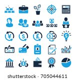 investment icons | Shutterstock .eps vector #705044611