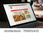 milan  italy   august 10  2017  ... | Shutterstock . vector #705051415