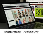 milan  italy   august 10  2017  ...   Shutterstock . vector #705055099