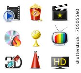 movie and entertainment icons   ... | Shutterstock .eps vector #70505560