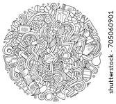 cartoon cute doodles hand drawn ...   Shutterstock .eps vector #705060901