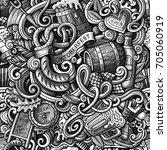 cartoon cute doodles hand drawn ... | Shutterstock .eps vector #705060919