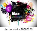 musical theme disco background... | Shutterstock .eps vector #70506283
