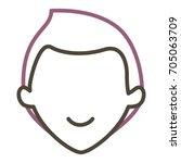 young man head avatar character | Shutterstock .eps vector #705063709