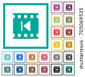 previous movie flat color icons ... | Shutterstock .eps vector #705069535