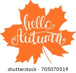 autumn turned orange maple leaf ... | Shutterstock .eps vector #705070519