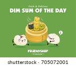 vintage dim sum poster design... | Shutterstock .eps vector #705072001