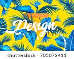 bright tropical background with ... | Shutterstock .eps vector #705073411