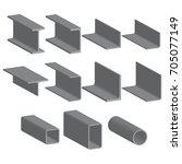 set of metal roll | Shutterstock .eps vector #705077149