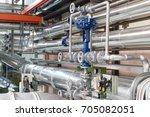 pneumatic control valve in a... | Shutterstock . vector #705082051