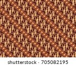 flora batik  | Shutterstock .eps vector #705082195