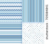 sea pattern seamless vector set | Shutterstock .eps vector #705084841