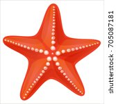 starfish in flat style. marine... | Shutterstock .eps vector #705087181