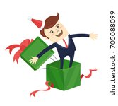 funny male character wearing... | Shutterstock .eps vector #705088099