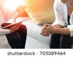doctor and patient healthcare... | Shutterstock . vector #705089464
