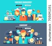 business flat concept web... | Shutterstock .eps vector #705091351