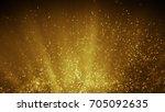 fairy dust flying in gold light ...   Shutterstock . vector #705092635