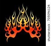 flame vector tribal  fire... | Shutterstock .eps vector #705096124