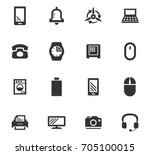 home appliances icons set | Shutterstock .eps vector #705100015