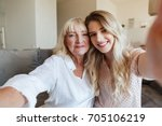 image of cheerful young lady...   Shutterstock . vector #705106219