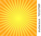 abstract bright yellow rays... | Shutterstock .eps vector #705107089