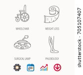 weight loss  wheelchair and... | Shutterstock .eps vector #705107407