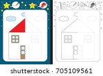 preschool worksheet for... | Shutterstock .eps vector #705109561