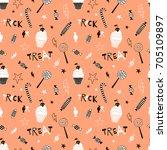 happy halloween pattern | Shutterstock .eps vector #705109897