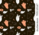 happy halloween pattern   Shutterstock .eps vector #705110167