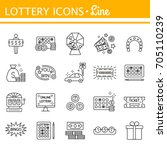 lottery and profit fortune...   Shutterstock . vector #705110239