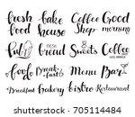restaurant  coffee shop  bakery ... | Shutterstock .eps vector #705114484