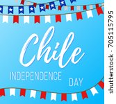 independence day in chile.... | Shutterstock .eps vector #705115795