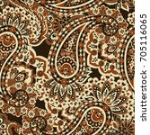 paisley seamless floral pattern.... | Shutterstock .eps vector #705116065