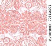 paisley seamless pattern.... | Shutterstock .eps vector #705116071