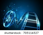 illustration of film reel... | Shutterstock .eps vector #705116527