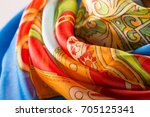 the local details of the silk... | Shutterstock . vector #705125341