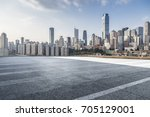 panoramic skyline and buildings ... | Shutterstock . vector #705129001