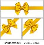 set of beautiful decorative... | Shutterstock .eps vector #705133261
