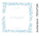 square floral blue greeting...   Shutterstock . vector #705147184