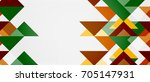 triangle pattern design... | Shutterstock .eps vector #705147931