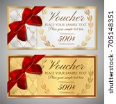 voucher  gift certificate ... | Shutterstock .eps vector #705148351