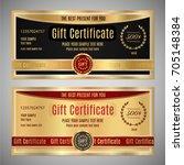 gift certificate  voucher ... | Shutterstock .eps vector #705148384
